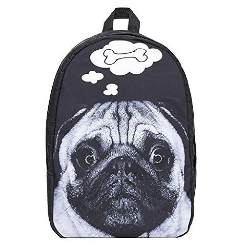 Funny Backpacks Company© Imprimé 3D FRONT Sac à dos Impression/Motif/Conception Taille Unique Unisexe Printemps Été 2017 (DOG BONE 39974)