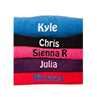 Hoolaroo Personalised Embroidered Beach Swimming Towel Any Name HOT PINK