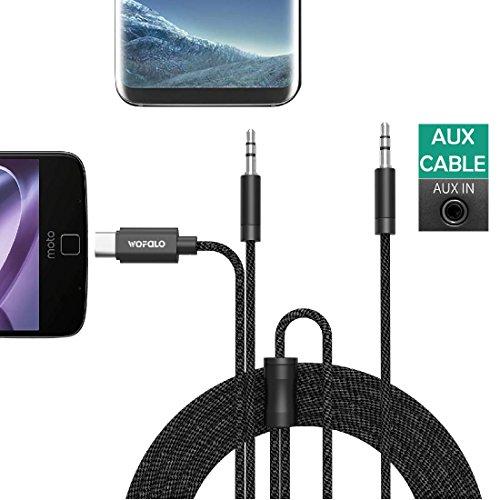 type c audio auto kabel,wofalo usb c aux auto kabel mit typ c Schnittstelle und 3.5mm adapter für Samsung Note 8/ S8 Plus/ S8/,Moto Z/Z Play /iphone und mehr Car Audio-kabel Für Handy