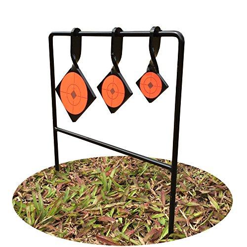 Target House Metallic Triple Square Spinner Target für .22, 762239Air Gewehr Stärke 6mm