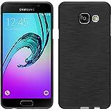 PhoneNatic Case für Samsung Galaxy A3 (2016) A310 Hülle Silikon silber brushed Cover Galaxy A3 (2016) A310 Tasche + 2 Schutzfolien