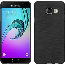 Funda de silicona para Samsung Galaxy A3 (2016) A310 - brushed plata - Cover PhoneNatic Cubierta + protector de pantalla