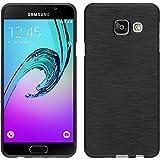 PhoneNatic Samsung Galaxy A3 (2016) A310 Hülle Silikon silber brushed Case Galaxy A3 (2016) A310 Tasche + 2 Schutzfolien