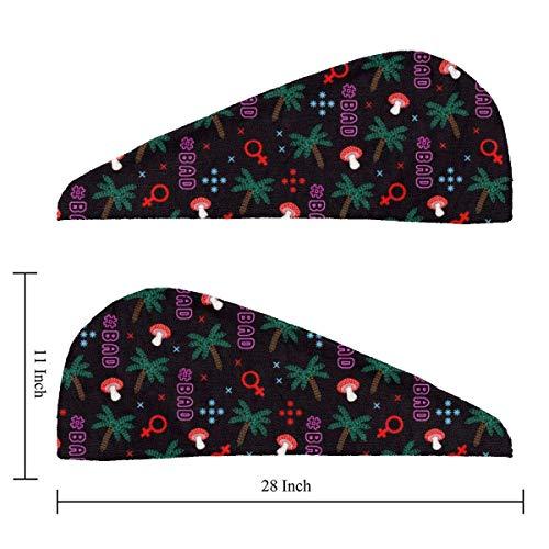 Imagen de osmykqe tropical summer swag pattern ¡la envoltura original de microfibra para el cabello como se ve en la televisión! toalla plopping para cabello largo y rizado alternativa