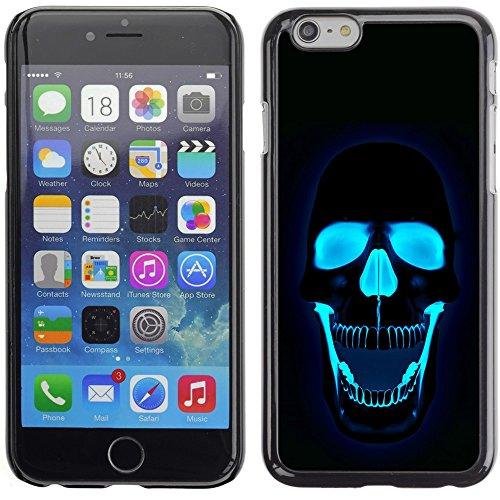 Graphic4You Crazy Music Skull Skeleton Design Harte Hülle Case Tasche Schutzhülle für Apple iPhone 6 Plus / 6S Plus Design #2