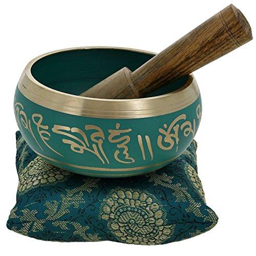 Bouddhiste méditation chant bol tibétain décor Art vert 10,2 CM