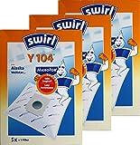 3 Pakete Swirl Y 104 MicroPor Staubsaugerbeutel = 15 Beutel + 3 Filter Y104
