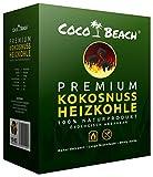 CocoBeach Professionelle Grillkohle/Heizkohle (10 kg) - 100% Kokosnuss-Kohle [Die beste Gastrokohle für das beste Fleisch - Extrem lange Brenndauer, keine chemischen Zusätze, starke Hitze]