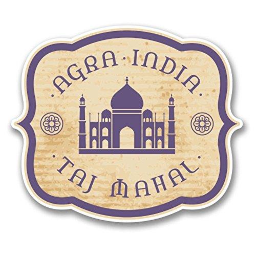 Preisvergleich Produktbild 2x Agra Indien Taj Mahal Vinyl Aufkleber Aufkleber Laptop Reise Gepäck Auto Ipad Schild Fun # 6394 - 10cm/100mm Wide