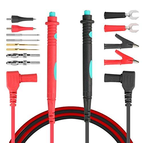Modellierwerkzeug für Multimeter Test führt Kit Digitales Multimeter Test Verlängerung Elektrische Sonde Alligator Clips Banana Stecker Austauschbare Sonden (Kopf Weichen, Austauschbaren)