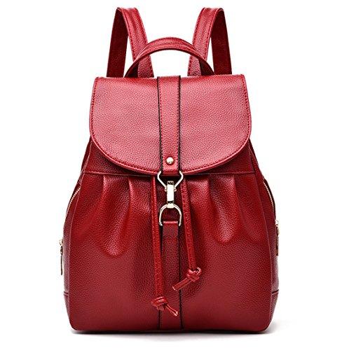 Imagen de tibes  de cuero pu  escolar pequeña  impermeable bolsos  bolsos para mujer vino rojo