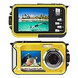 Onderwatercamera voor snorkelen 24,0 MP waterdichte digitale camera Full HD 1080P Dual Screen waterdichte actiecamera