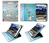 Alcatel One Touch Pop 10 / OneTouch Pixi 3 10 inch Tablet Einhorn Universal 360 Grad Wallet Schutzhülle Folio mit Kartensteckplätzen ( 9 - 10 zoll ) von Sweet Tech