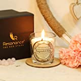 #8: Resonance Natural Wax Vegan Candle - Votive Aroma Candle in Pomegranate and Berry Fragrance