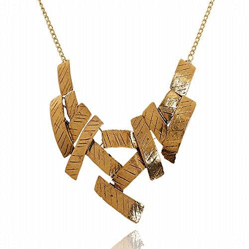 WTTCD Damen Halskette Damen Halskette Anhänger 925 Vintage Halskette Geometric Twill Metallic Accessoires Bekleidungszubehör A5758Q Metallic-twill