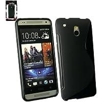 Emartbuy ® HTC One Mini Wellenmuster Gel Skin Cover Schwarz