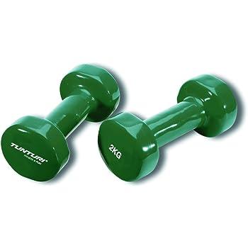 Tunturi 14TUSFU110 Mancuernas, Unisex Adulto, Verde, 2 kg