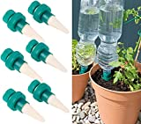 Royal Gardineer Pflanzenbewässerung: Pflanzen-Bewässerungssystem mit Tonspitze und Flaschenaufsatz, 6er-Set (Bewässerung Flaschenaufsatz)