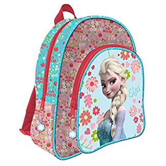 Mochila Frozen Disney Flowers Adaptable 41cm