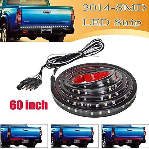 iekon universel de voiture camion Tour Signal queue Envers 152,4cm Blanc Lumière LED rouge Tailgate Bar pour 2003–2012Dodge Ram 15002500350045005500
