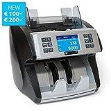 Geldzählmaschine Wertzähler Summe SR9000 von Securina24 (schwarz - silber)