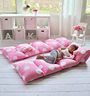 Butterfly Craze Girl's Floor Lounger Seats Cover and Pillow Cover Made of Super Soft, Luxurious Premium Pl