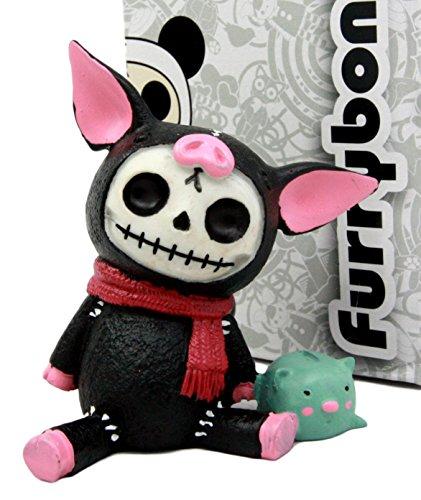 Kostüm Monster Furry - Atlantic Sammlerstücke Furry Bones Figur Schwein Speck Miniatur 8,3cm H Kostüm Skelett Monster Sammlerstück Skulptur