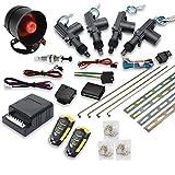 MASO Telecomando Auto Chiusura centralizzata Kit 4Porte KEYLESS Entry System + immobilizzatore Sistema di Allarme antifurto con sensore Shock Universale Adatto per Tutte Le ca