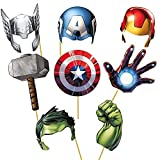 #9: Party Propz Avengers Photobooth (Set Of 8) For Avenger Theme Birthday