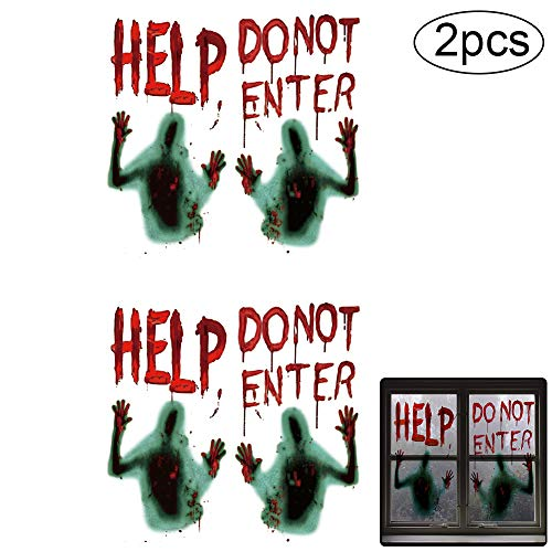 2 PCS Pegatina Vampire Horror Zombie Impermeable No