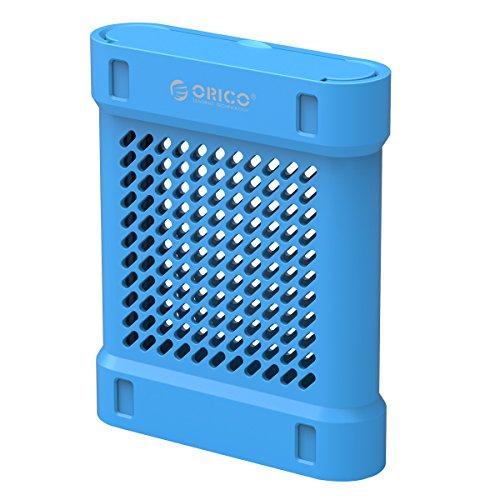 ORICO - 3,5 Zoll Silikon Festplattentasche Schutztasche Schutzhülle für Externe Tragbare Festplatten, HDD/SSD Schutzbox für Western Digital WD Seagate Toshiba Samsung Intenso (Blau)