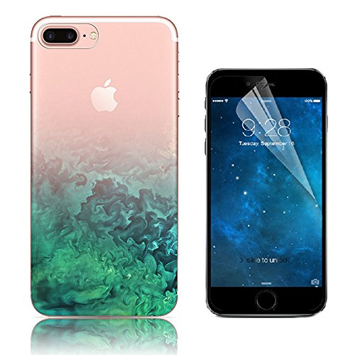 Case iPhone 7 Plus, Bonice Cover iPhone 7 Plus [Cover Silicone Gel] ** Trasparente TPU** [Paesaggio Scenario ] Forma Morbido, Custodia iPhone 7 Plus, Custodia iPhone 7 Plus + 1x Protezione Dello Scher model 16