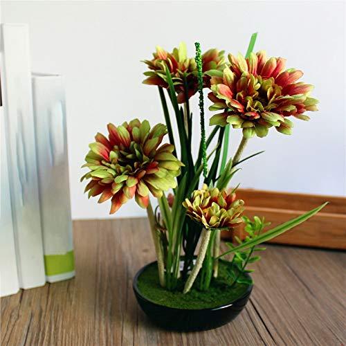 3CLifewaren Künstliche Blumen in Topf Tisch Bonsai Kunstblumen Kunstpflanzen Topfpflanze Topf Ornamente für Braut Hochzeit Haus Garten Party Hochzeit Balkon Dekoration