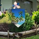 LENNEL Garten Flagge doppelseitig 28 x 40 Zoll für Rasen Party Hochzeit Farm Home Decor Tropen Meer Palma Beach