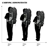 Mountaintop 65+5L Trekkingrucksack für Camping, Wandern, Bergsteigen, Reisen, 75 x 33 x 25 cm -
