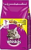 Whiskas Katzen-/Trockenfutter Adult 1+ für Erwachsene Katzen mit Huhn, 1er Pack (1 x 3,8 kg)