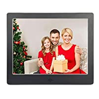 V?�fa?�?� Digital Picture Frame 8 Inch Electronic Photo Music Video Playback HD 1024x768 Pixels Present for Wedding & Festival (2G SD Black)