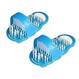 Sharplace 1Paire Sandale de Douche Chaussures de Bain avec Brosse SPA des Pieds