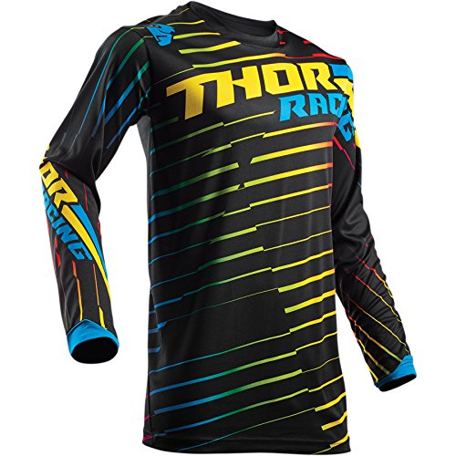 Thor Pulse Kinder Rodge Motocross Jersey Multi Shirt Trikot Offroad Enduro Cross Mx Sx Fr Dh (L, Multi) (Motocross Mädchen Jersey)