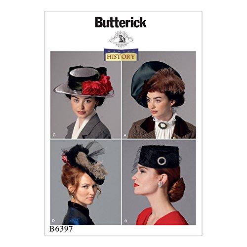 Butterick Patterns Schnittmuster Hüte, mehrfarbig