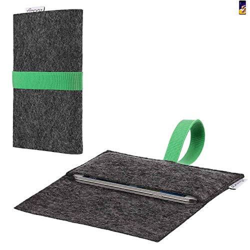 flat.design vegane Handy Hülle Aveiro für Asus ZenFone 5 (2018) passgenaue Filz Tasche Case Sleeve Made in Germany