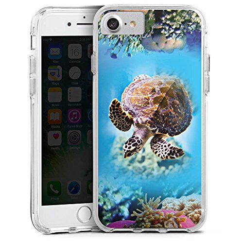 Apple iPhone X Bumper Hülle Bumper Case Glitzer Hülle Animals Tiere Unterwasser Bumper Case transparent