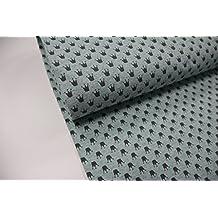 Plástico/50cmx140cm/Niños/mejor Jersey de calidad/Jersey/Verano de sudadera Corona en turquesa color gris jaspeado