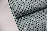 Stoff / 50cmx140cm / Kinder / beste Jersey-Qualität / Jersey / Sommer-Sweat Krone grau auf türkis meliert