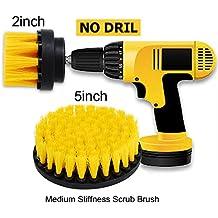 """Oxoxo drill Brush - 2"""" 5"""" le setole di media attacco scrubber kit di pulizia per cucina bagno superfici mattonelle docce Carpet parquet, piastrelle"""