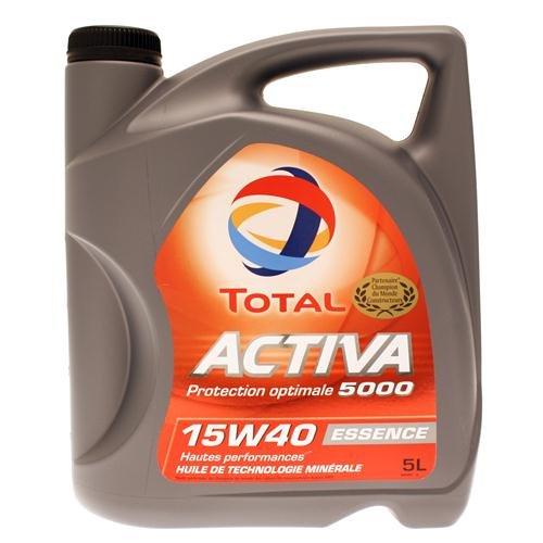 TOTAL 148034 Activa 5000 15W40, 5 L pas cher