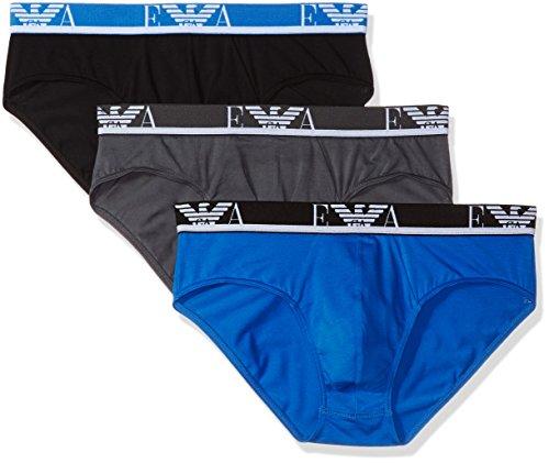 Emporio Armani 3er Pack Shorts Brief Unterhose 111734 8P715 19944 ANTRAC/CIELO/NERO W18-EABZ2 Größe L