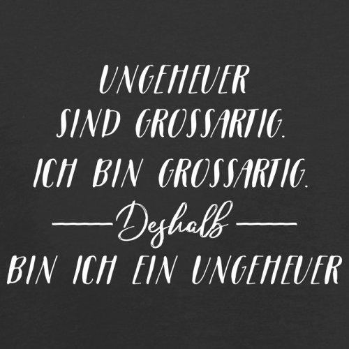 Ich Bin Grossartig - Ungeheuer - Damen T-Shirt - 14 Farben Schwarz