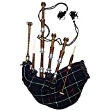 Highland Wear Mackenzie - Bolsa de madera de palisandro (tamaño completo, monturas lisas, color...