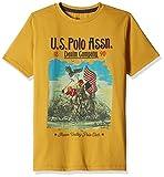 US Polo Boys T-Shirt (UKTS6258_Dark Yellow_EESHS)